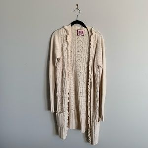 JUICY COUTURE   Wool and Cashmere Sweater Duster